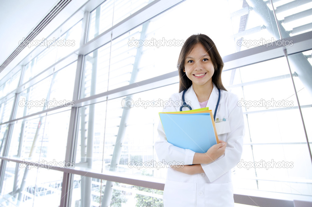 Asian mixed malay race medical student  Stock Photo #10119232