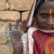 Portrait of IndiRajasthani woman — Stock Photo #8794423