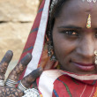 Portrait of a India Rajasthani woman — Foto de stock #9026154