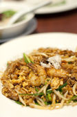 Fried Penang Char Kuey Teow which is a popular noodle dish in Ma — Stock Photo