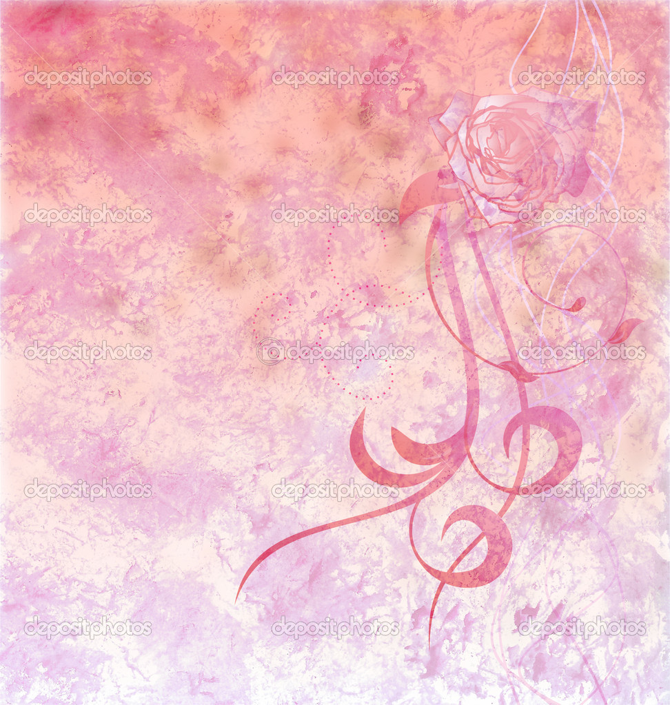 Red rose grunge textured background light pink — Stock ...