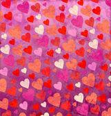 Grunge seamless pink hearts backround forlove, valentines and we — Stock Photo