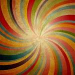 Swirl stripe centered on grunge brown background — Stock Photo