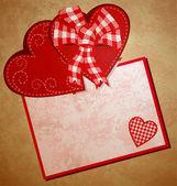 Rött hjärta wintage xtyle alla hjärtans dag illustration för kärlek, ro — Stockfoto