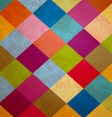 Colorful grunge squares background — Stockfoto