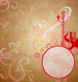Abstrait rouge sité rétro vintage fond marron — Photo