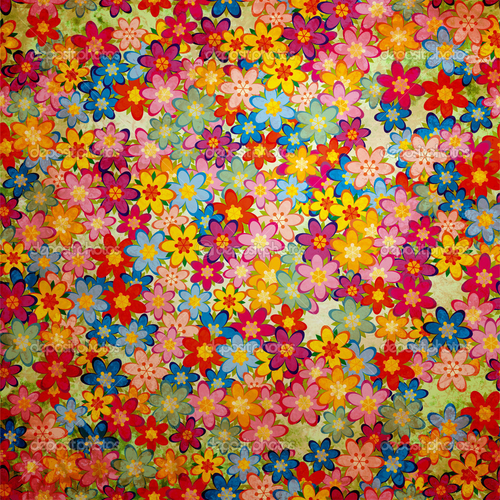 colorful floral background patterns - photo #38