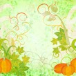Autumn textured orange pumpkin background - Stock Photo