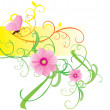 Spring and summer vector flower bunners - Stock Photo