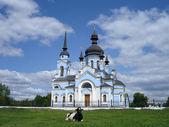 церковь села — Стоковое фото
