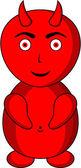 Kırmızı şeytan — Stok Vektör