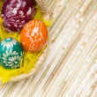 Stock Photo: Eggs in Easter Basket