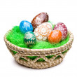Eggs in Easter Basket — Stock Photo #9338960