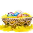 Eggs in Easter Basket - Stockfoto