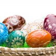 Eggs in Easter Basket - Stock Photo