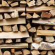 Stacked wood — Stock Photo