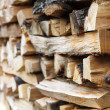 Stacked wood — 图库照片