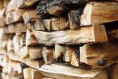 Staplade wood — Stockfoto