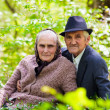 Senior couple relaxing outdoor — Stock Photo