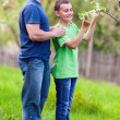 Father and son outdoor — Stock Photo