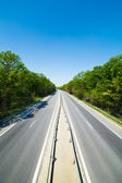 Highway through forest — Stock Photo