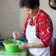 Senior woman in the kitchen — Stock Photo #8124418