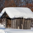 Stock Photo: Wooden shack in the winter