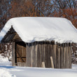 Stock Photo: Wooden shack in winter