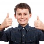 roztomilé dítě palec nahoru — Stock fotografie