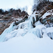 Huge icicles on a mountain — Stock Photo #9164062