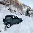 Stock Photo: Car stuck in a snow avalanche