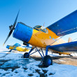 vintage airplanes — Stock Photo