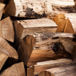 Wood split and chopped - Stock Photo