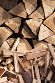 Wood split and chopped — Stock Photo