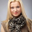 Fashionable young woman with scarf — Stock Photo #9697786