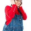 Pregnant woman with headphones — Stock Photo #9697944