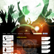 Stock Vector: Web site layout with music event subject