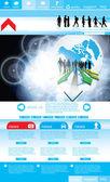 Шаблон сайта легко редактируемые — Cтоковый вектор
