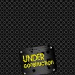 Under construction background — Stock Vector