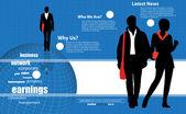 бизнес иллюстрация — Cтоковый вектор