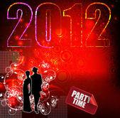 新年の音楽イベント — ストックベクタ