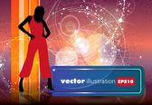 Silhouette of girl — Stock Vector