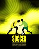 Piłkarze na streszczenie tło — Wektor stockowy