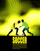 Soccer players on abstract background — Wektor stockowy