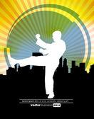 Sports. Karate illustartion — Stock Vector