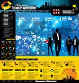 Homepagevorlage leicht bearbeitbaren — Stockvektor