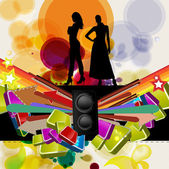 Party Vector Background — Stock Vector