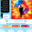 Website template easy to editable — Imagen vectorial