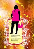 Fashion girls. Vector illustration — Stock Vector