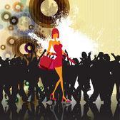音楽背景パーティのベクトル イラスト — ストックベクタ